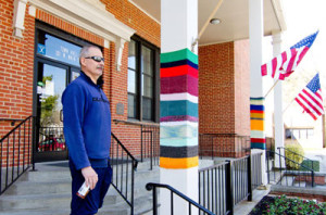 Yarn-Bombed Town Hall