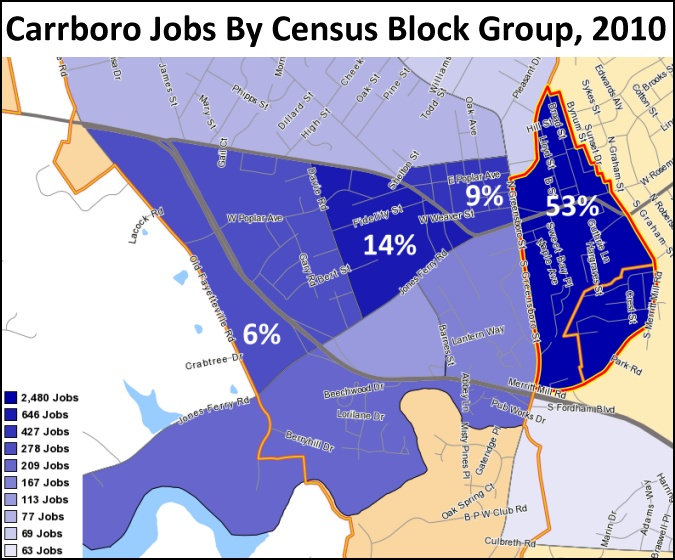 Carrboro Jobs By Block Group