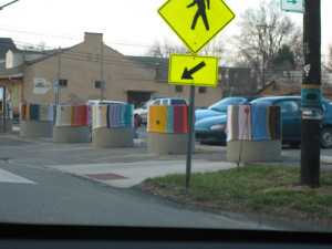 Yarn-Bombed Parking Lot