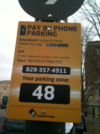 Parking Zone Signage in Asheville