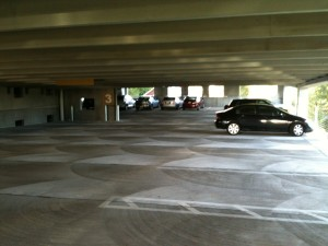 3rd Level Parking Deck During Late Afternoon CMF