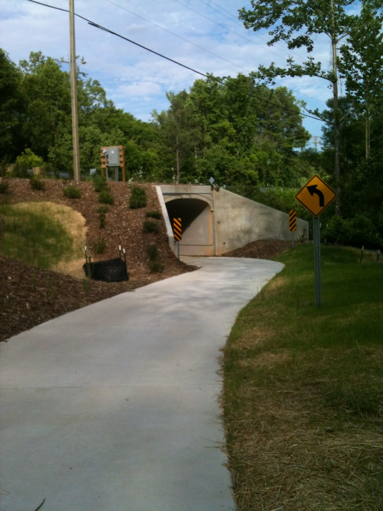 Culbreth Rd Underpass Approach from the South