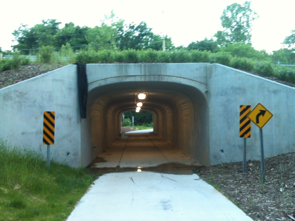 Looking Through Culbreth Rd Underpass