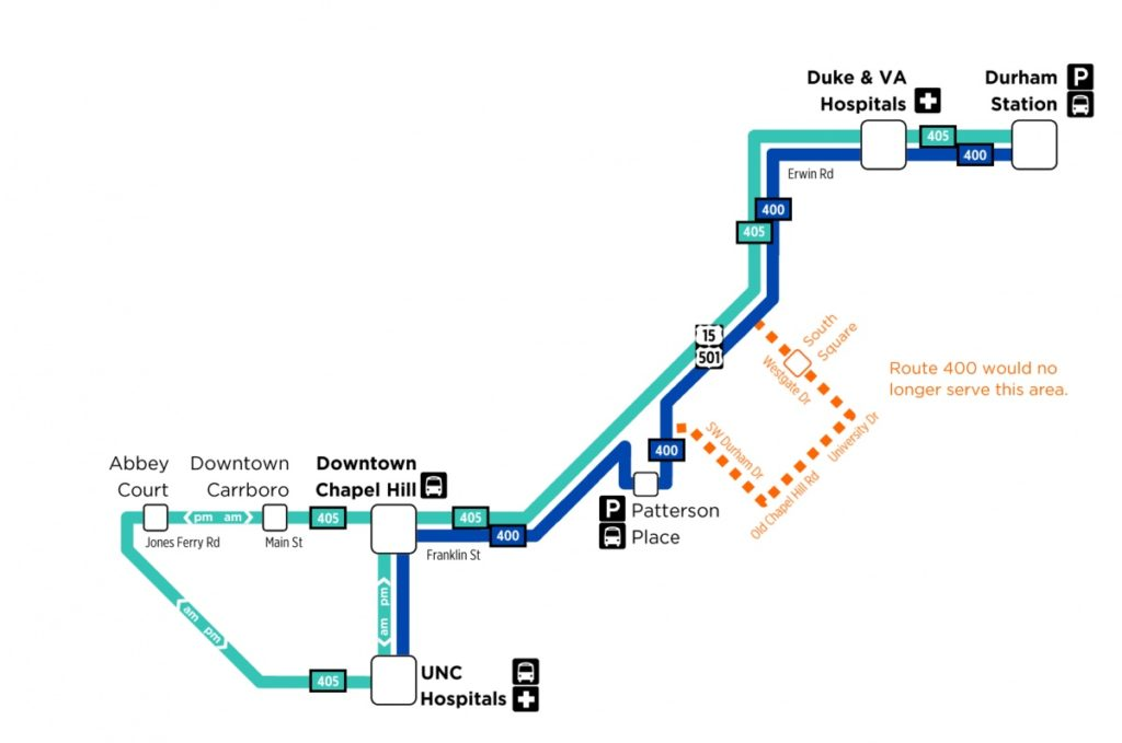 Proposed Carrboro-Durham Bus Service