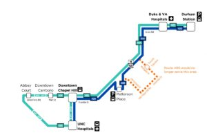 GoTriangle Proposes Carrboro-Durham Bus Service, Additional Fast Trips from Chapel Hill