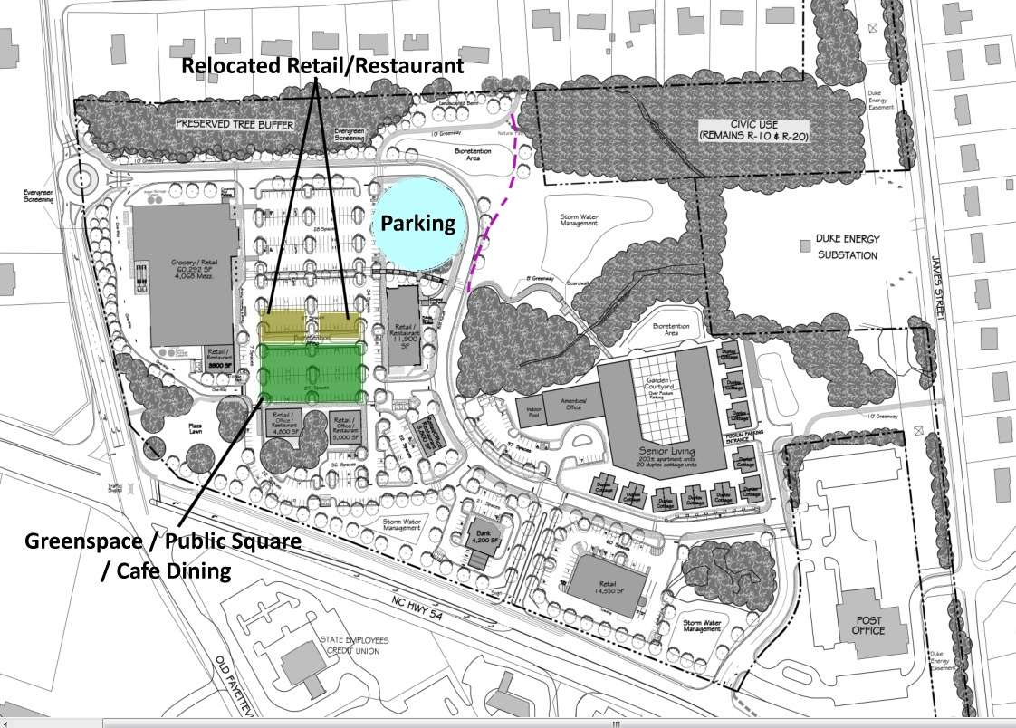 Lloyd Farm with Parking Re-Arranged to Create positive Public space