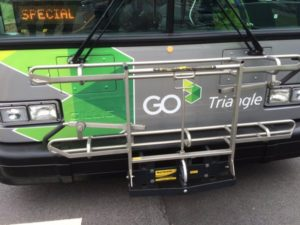 Bike Rack on GoTriangle Bus
