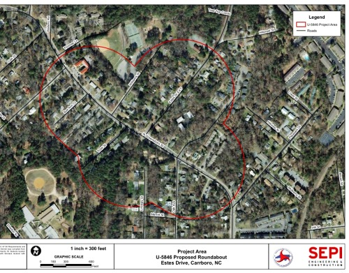 Roundabout Being Considered for Estes Dr and Greensboro St Intersection