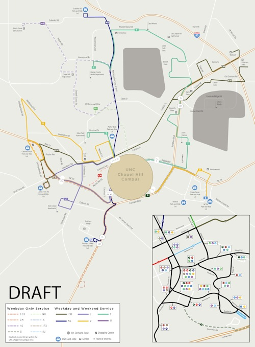Chapel Hill Transit Proposes New System Maps – Scenario 3 Is The Best