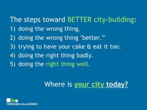 Steps Toward Better City Building